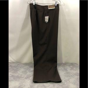 NWT Merona Classic Fit Trousers Flatfront  18W
